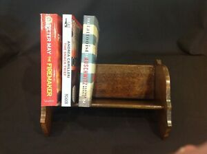 Vintage Wooden Desk Top Trough Free Standing Book Shelf Stand