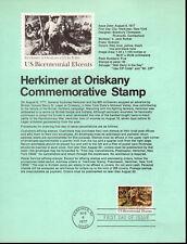 HERKIMER AT ORISKANY - 1722 SOUVENIR PAGE - 1977