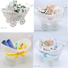 Unisex baby shower Pram Basket Wicker Hamper Newborn Party Gift Christmas Gifts