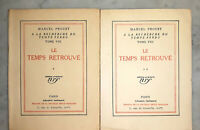 °PROUST Ed.Originale Pur Fil numéroté- Le Temps Retrouvé, 1927