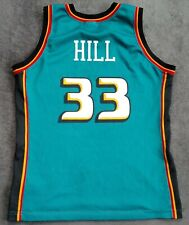 NBA Vintage Champion Detroit Pistons Basketball Jersey Shirt Grant Hill #33 S-M