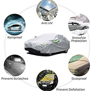 6Layer Heavy Duty Car Cover Waterproof Dust UV Resistant Outdoor Protection XXXL