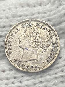 (0425) 1898 Canada 10 Cents Dime (World Silver) KM# 3, Schön# 3
