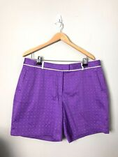 Lady Hagen Sz 16 Revitalize  Golf Bermuda Shorts, Dot Print, Deep Lavender NWT