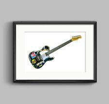 Joe Strummer's 1966 Fender Telecaster POSTER PRINT A1 size