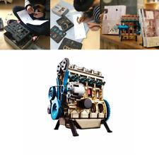 1:24 Full Metal Assembled Four-cylinder Inline Gasoline Engine Model Building