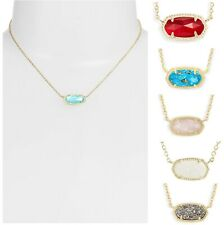KENDRA SCOTT Elisa Gold Tone Pendant Necklace in Colorful Gemstones w Dust Bag