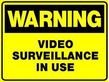 2 SIGNS VIDEO SURVEILLANCE IN USE CAMERA SIGN 300X200 SECURITY WARNING SIGN