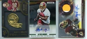 ALFRED MORRIS RC LOT-3 TOPPS PLATINUM JERSEY PATCH AUTO /100 R&S GREEN AUTO /99