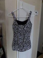 GLO jeans co junior's sz M Zebra print with mini sequins black/white top