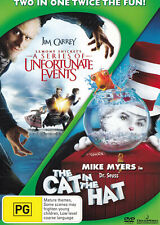 A SERIES OF UNFORTUNATE EVENTS / THE CAT IN THE HAT  DVD R4 - PAL    SirH70