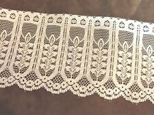 Wide White Lace  3 inches  1 yard