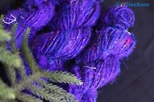 300g - Recycled sari silk chunky dark Ink Blue weight Handspun Yarn knitter's