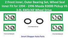 2 Front Wheel Bearing Set, Wheel Seal Fit for 1994 1995 1996 Mazda B3000 4WD/AWD