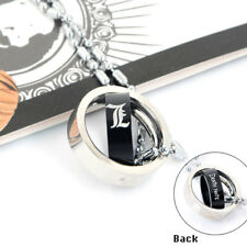 Anime Death Note L Lawliet Double Finger Ring Pendant Necklace Cosplay Xmas Gift