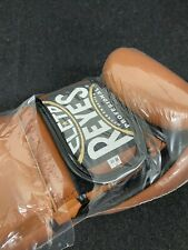 """Cleto Reyes Hook and Loop Leather Training Boxing Gloves """"Old Brown� 16oz"""
