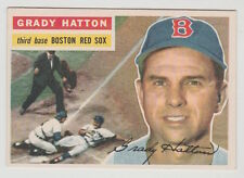 1956 TOPPS GRADY HATTON BOSTON RED SOX WHITE BACK CARD #26 NEAR MINT CONDITION