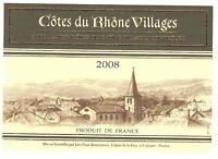 Etiquette de vin - Côtes du Rhône Villages - 2008