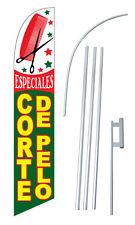 Especiales Corte De Pelo Hair Cut Special w Tall Advertising Banner Flag Complet