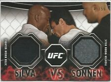 Anderson Silva Chael Sonnen 2013 Topps UFC Knockout Memorable Match-Ups 2 Relics