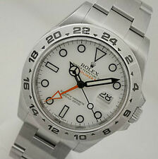 Rolex EXPLORER II 216570 Mens Steel 24HR Bezel White Dial Orange Hand 42MM