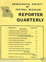 Genealogy Society Central Missouri Reporter Quarterly (2) Winter 1991 Fall 1993