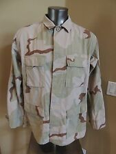 BUZZ OFF U.S. Army Desert Combat Insect Shield Camo Cargo JACKET Sz Large Long L