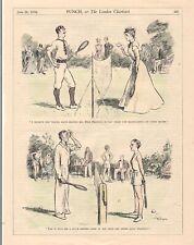 Vintage 1934 Punch TENNIS Cartoon for framing