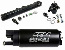 AEM Fuel Pressure Regulator+Fuel Rail+320lph Fuel Pump B-Series B16 B18C