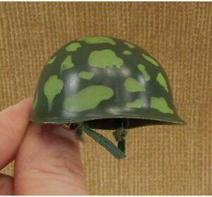 Vintage 1964 Hasbro GI Joe #7707 Paratrooper Set Camouflage Helmet w/ Strap C8