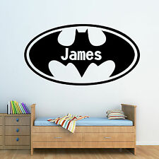 Personalised Batman Logo U0026 ANY NAME!   Wall Art Sticker Bedroom Decal Mural