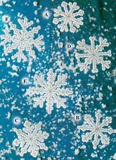 DAINTY SNOWFLAKES CHRISTMAS ORNAMENTS PLASTIC CANVAS PATTERN INSTRUCTIONS