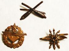 Czecholovakia - Collar Badges - 3  different -  unused  -  B5506