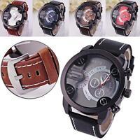 HOT Luxury Men Fashion Watches Leather Band Quartz Analog Sport Wrist Watch TT