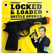 Locked & Loaded Gun Beer Bottle Cap Opener - 007 James Bond Bar Tool - BigMouth
