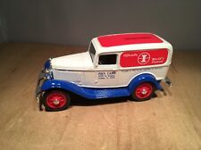 ISKY CAMS 1932 FORD DELIVERY VAN DIE CAST COIN BANK by ERTL  #9422 UP 1:25 SCALE