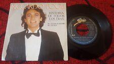 """RICCARDO FOGLI ** Historia De Todos Los Dias ** SAN REMO 1982 Spain 7"""" Single"""