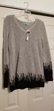 Antonio Melani Womens Sweater Black/Grey Size Large NWT