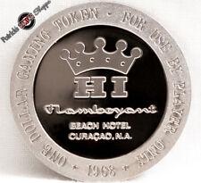 $1 PROOF-LIKE SLOT TOKEN FLAMBOYANT BEACH HOTEL CASINO 1968 FM COIN CURACAO N.A.