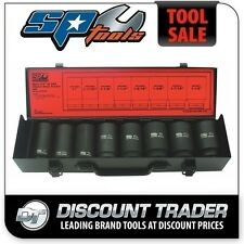 "SP Tools Socket Set Impact 3/4"" Drive Deep 6 Point 8 Piece Imperial/SAE SP20425"