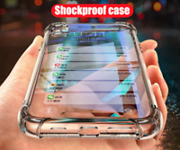 2019 Shockproof Clear Case Glass Tempered Screen Cover for Apple iPhone X / XS