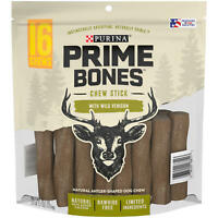 Purina Prime Bones Chew Stick with Wild Venison 16 chews.Natural, Antler-Shaped