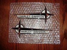 HARLEY TANK EMBLEMS BADGES  61-62 OEM   & MOUNTING BRACKET KIT