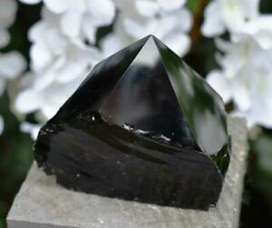 Natural Black Obsidian Standing Polished Point Crystal Piece Inc Gift Box 361g