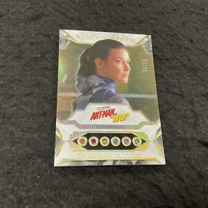 EVANGELINE LILLY as WASP Infinity Stones Relic 6/23 2021 UD Marvel Black Diamond