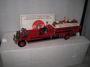 MATCHBOX COLLECTIBLES COCA COLA XMAS HOLIDAY FIRE ENGINE 1930 ATHRENS- FOX QUAD