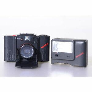 Minox 35 GT-E Sucherkamera / Kompaktkamera mit Aufsteckblitz FC-E