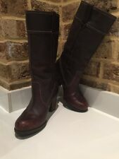 Women's Timberland Tall Leather Brown boots Size 4 EU37 (9426) Waterproof