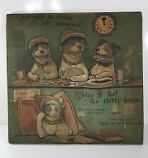 Campbell, Metzger & Jacobson Dogs Playing Poker Fabric Print Stretched Framed
