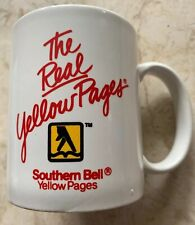 Vintage Yellow Pages Coffee Cup / Mug Advertising Bell Telephone Southern Bell